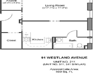 Studio, Fenway Rental in Boston, MA for $2,260 - Photo 1