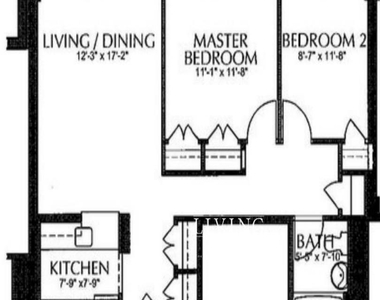 No fee+1 month free(this is the gross rent) 2 bedroom not a flex, lots of closet space, open kitchen - Photo Thumbnail 0