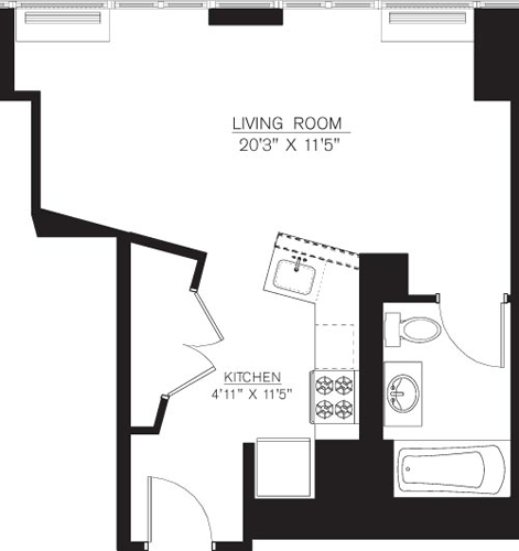 Studio, Downtown Brooklyn Rental in NYC for $2,580 - Photo 2