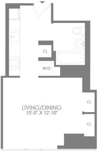 Studio, Hell's Kitchen Rental in NYC for $3,465 - Photo 2
