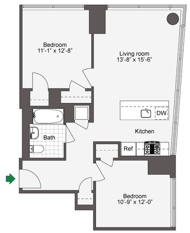 2 Bedrooms, DUMBO Rental in NYC for $4,624 - Photo 2