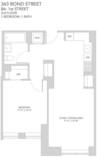 1 Bedroom, Gowanus Rental in NYC for $3,285 - Photo 2