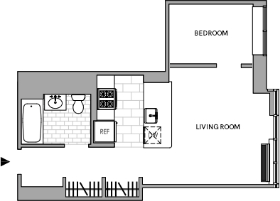 1 Bedroom, Hell's Kitchen Rental in NYC for $2,893 - Photo 2