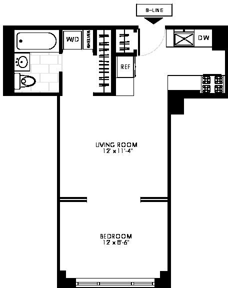 Studio, Manhattan Valley Rental in NYC for $2,665 - Photo 2