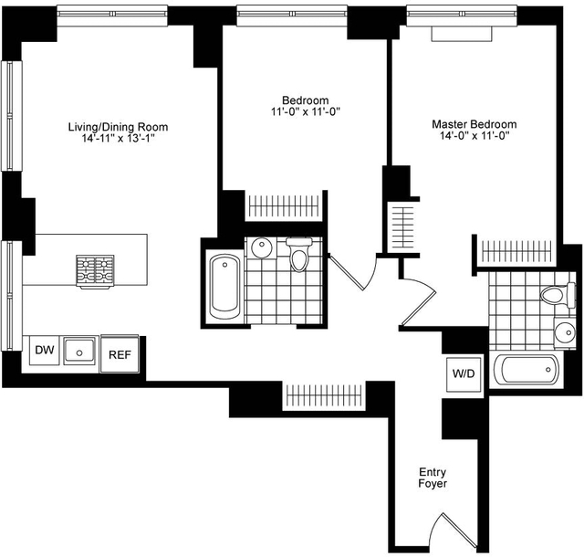 2 Bedrooms, Chelsea Rental in NYC for $6,920 - Photo 2