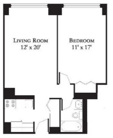 1 Bedroom, Theater District Rental in NYC for $2,375 - Photo 2