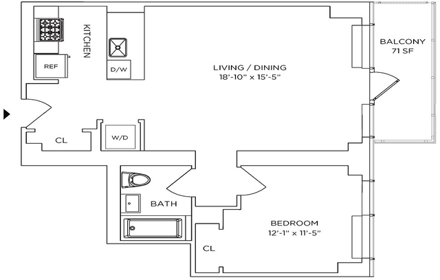 1 Bedroom, Downtown Brooklyn Rental in NYC for $4,324 - Photo 2