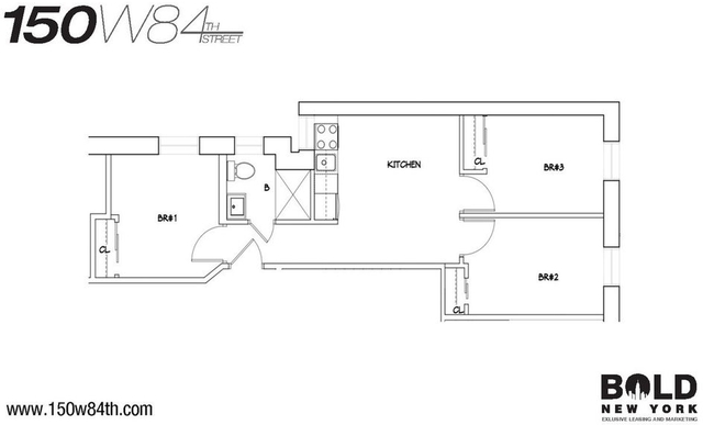 3 Bedrooms, Upper West Side Rental in NYC for $4,395 - Photo 2