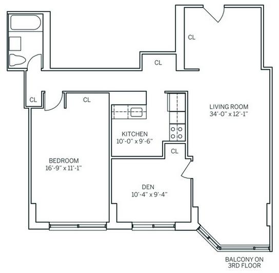2 Bedrooms, Newport Rental in NYC for $3,125 - Photo 2
