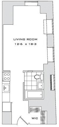 Studio, Financial District Rental in NYC for $2,543 - Photo 2