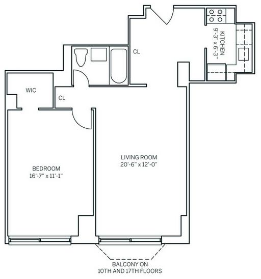 1 Bedroom, Newport Rental in NYC for $2,435 - Photo 2