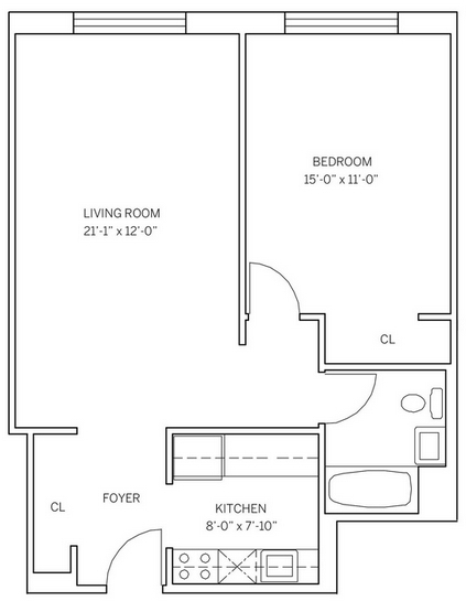 1 Bedroom, Historic Downtown Rental in NYC for $2,385 - Photo 2
