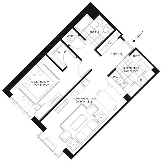 1 Bedroom, Newport Rental in NYC for $2,795 - Photo 2