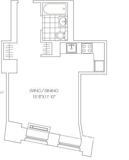 1 Bedroom, Financial District Rental in NYC for $2,705 - Photo 2