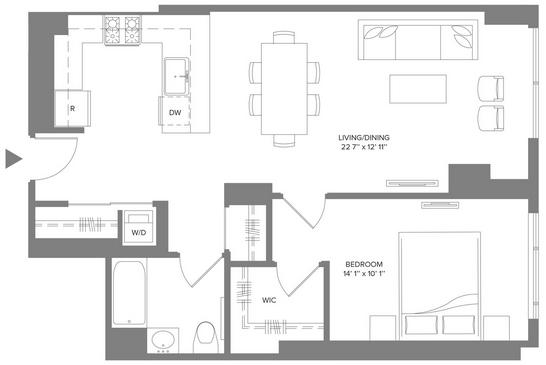 1 Bedroom, Newport Rental in NYC for $3,170 - Photo 2