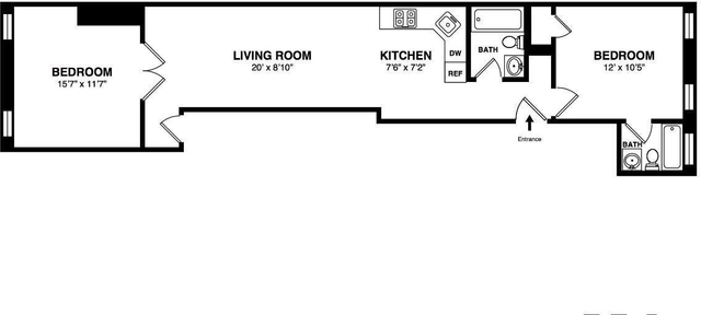 2 Bedrooms, Williamsburg Rental in NYC for $3,822 - Photo 2