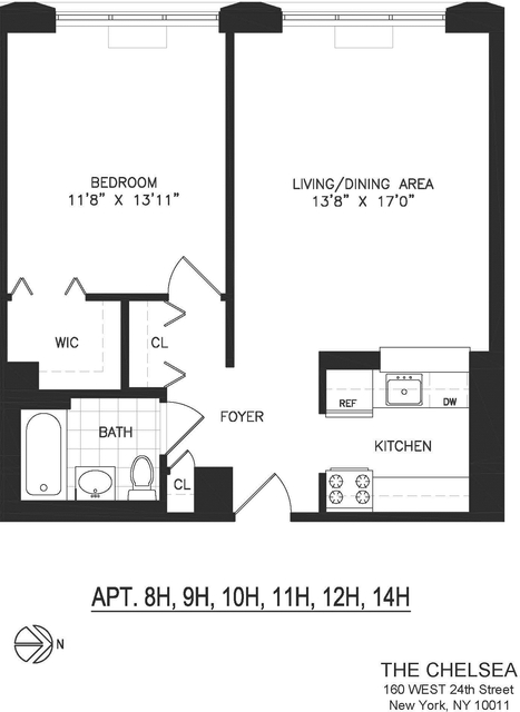 1 Bedroom, Chelsea Rental in NYC for $4,815 - Photo 2