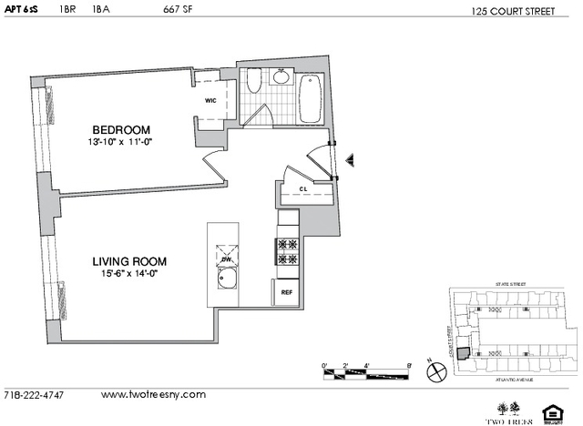 1 Bedroom, Boerum Hill Rental in NYC for $3,470 - Photo 2