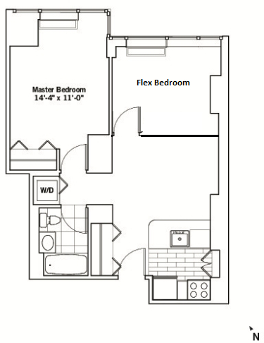 2 Bedrooms, Chelsea Rental in NYC for $4,340 - Photo 2