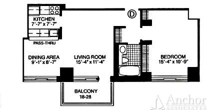 Studio, Theater District Rental in NYC for $2,839 - Photo 2