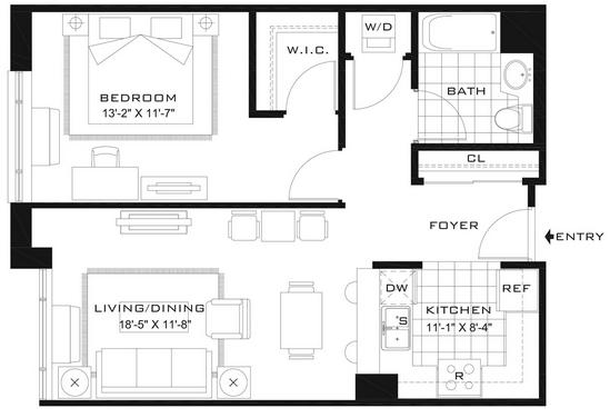 1 Bedroom, Newport Rental in NYC for $2,760 - Photo 2