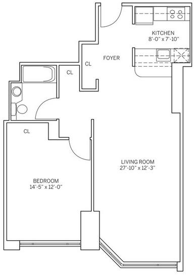 1 Bedroom, Newport Rental in NYC for $2,910 - Photo 1