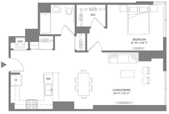 1 Bedroom, Newport Rental in NYC for $3,200 - Photo 2