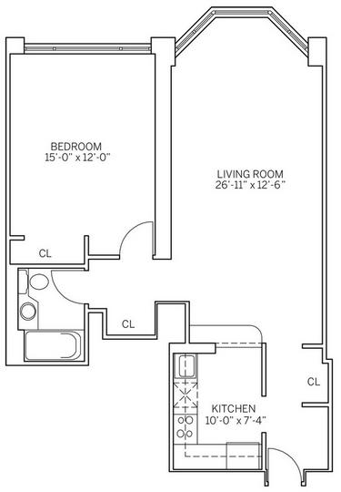 1 Bedroom, Newport Rental in NYC for $2,700 - Photo 2