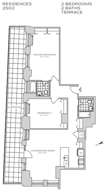 2 Bedrooms, Financial District Rental in NYC for $5,703 - Photo 2