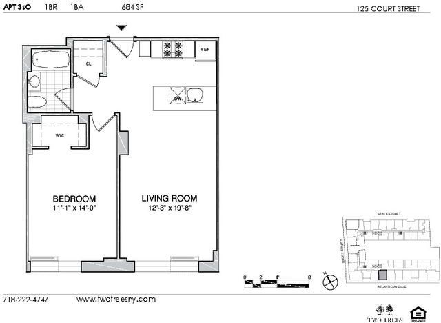 1 Bedroom, Boerum Hill Rental in NYC for $3,387 - Photo 2