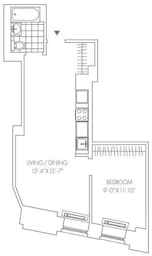 1 Bedroom, Financial District Rental in NYC for $3,385 - Photo 2