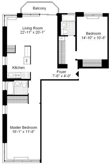 2 Bedrooms, Theater District Rental in NYC for $5,490 - Photo 2
