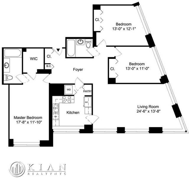 3 Bedrooms, Battery Park City Rental in NYC for $8,595 - Photo 2