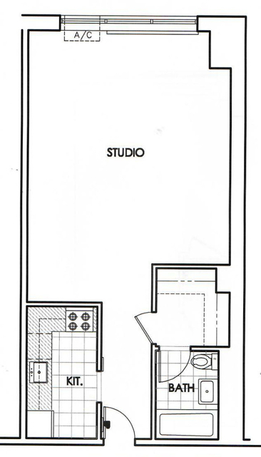 Studio, Upper West Side Rental in NYC for $2,677 - Photo 2
