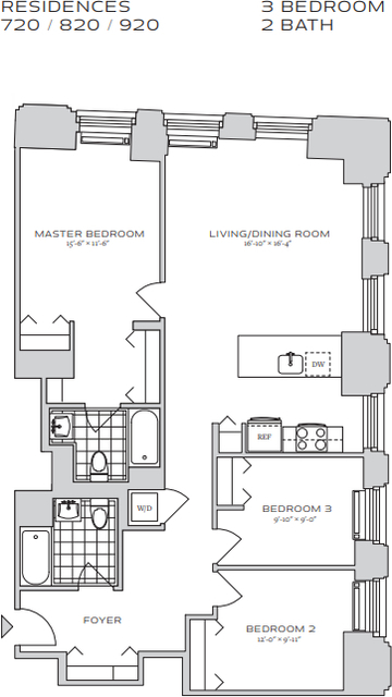 3 Bedrooms, Financial District Rental in NYC for $8,595 - Photo 2