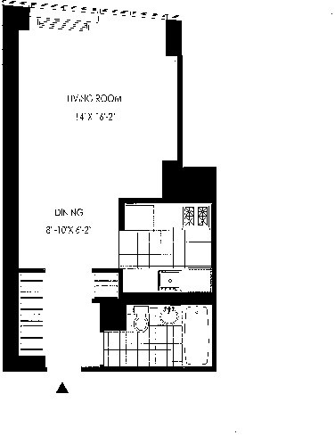 Studio, Hunters Point Rental in NYC for $3,030 - Photo 2