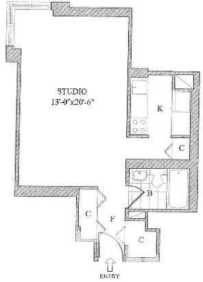 Studio, Yorkville Rental in NYC for $2,835 - Photo 2