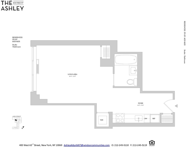 Studio, Lincoln Square Rental in NYC for $3,480 - Photo 2
