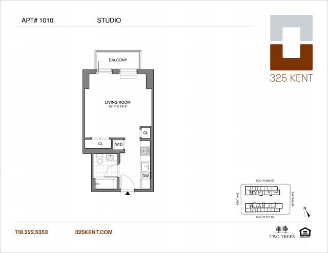 Studio, Williamsburg Rental in NYC for $2,686 - Photo 2