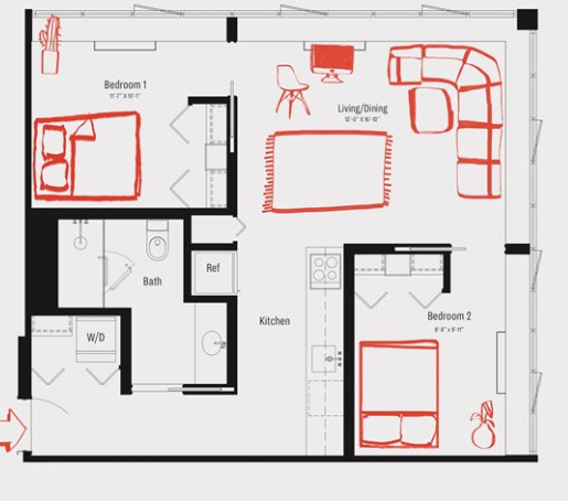 2 Bedrooms, Stapleton Rental in NYC for $2,613 - Photo 2