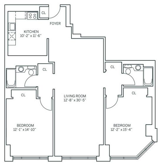 2 Bedrooms, Newport Rental in NYC for $3,309 - Photo 2