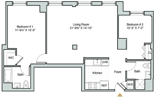 2 Bedrooms, Hunters Point Rental in NYC for $3,697 - Photo 2