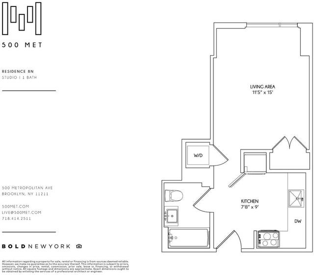Studio, East Williamsburg Rental in NYC for $2,852 - Photo 2