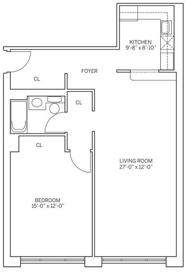 1 Bedroom, Newport Rental in NYC for $2,680 - Photo 2
