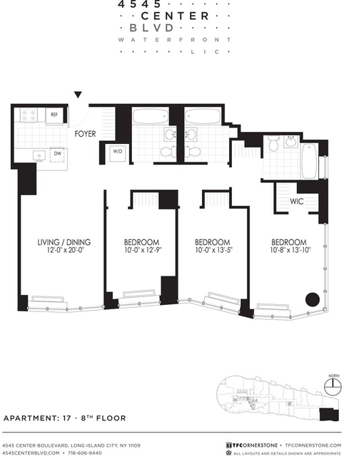 3 Bedrooms, Hunters Point Rental in NYC for $5,595 - Photo 2