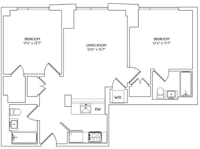2 Bedrooms, East Williamsburg Rental in NYC for $4,395 - Photo 2