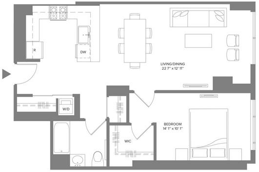 1 Bedroom, Newport Rental in NYC for $3,100 - Photo 2