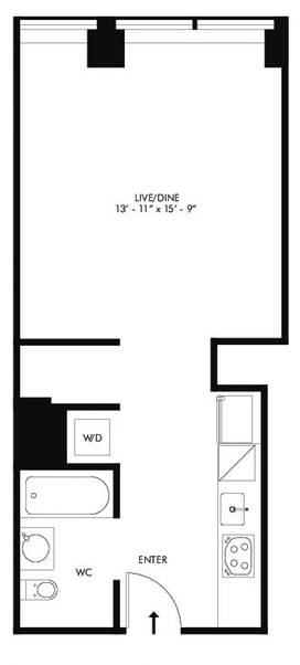 1 Bedroom, Financial District Rental in NYC for $3,040 - Photo 2