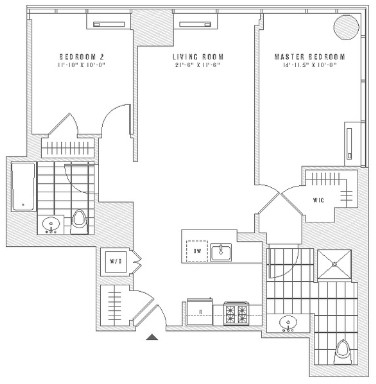 2 Bedrooms, Chelsea Rental in NYC for $6,364 - Photo 2