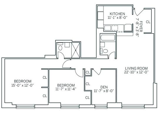 3 Bedrooms, Newport Rental in NYC for $3,715 - Photo 2